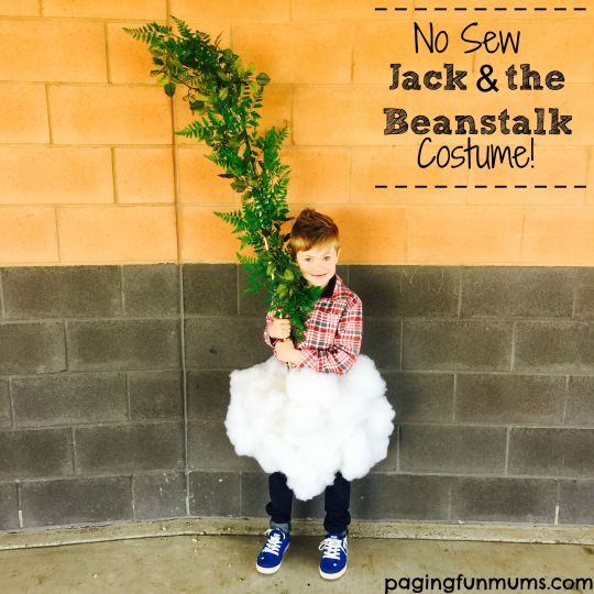 No Sew Jack & the Beanstalk Costume