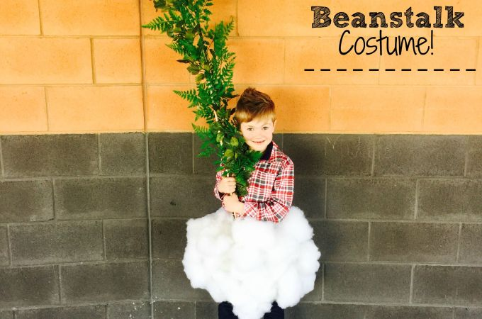 No Sew Jack and the Beanstalk Costume for Halloween or Bookweek