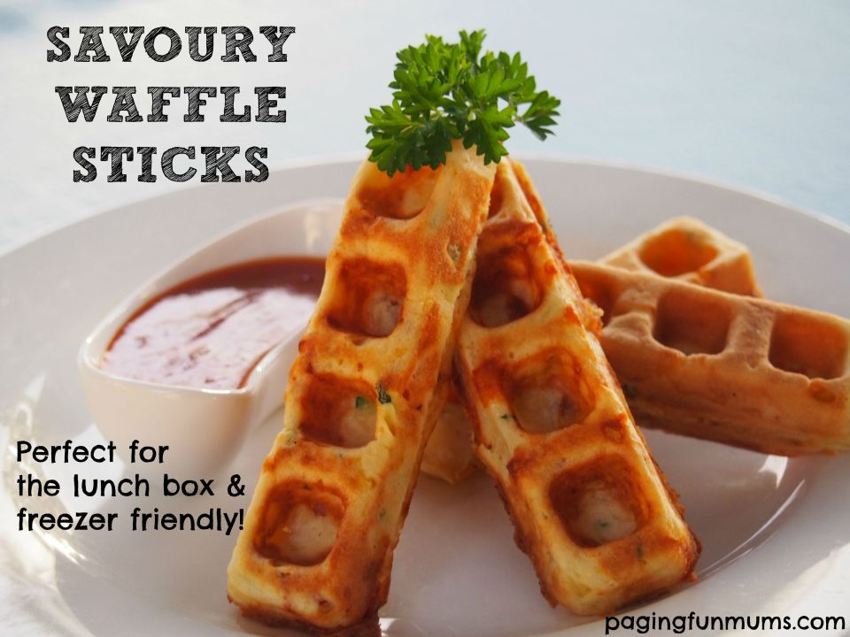 Savoury Waffle Sticks - perfect for the school lunch box or party 'finger' food!