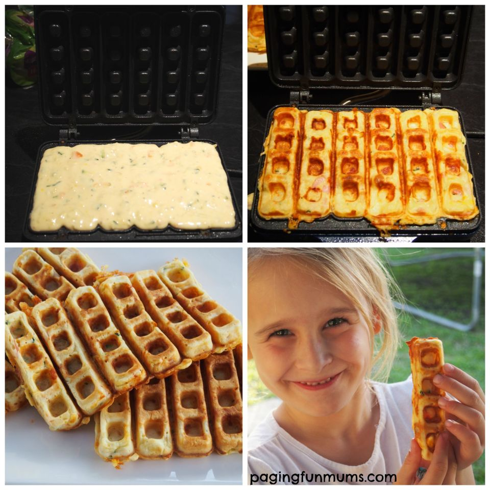 Sunbeam Waffle Stick Maker! Savoury waffles that the kids will LOVE!