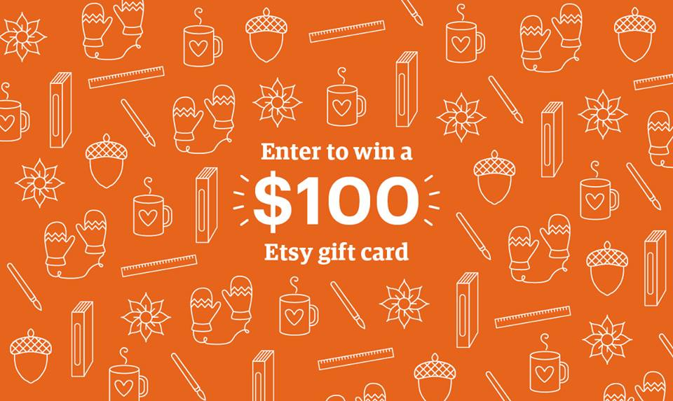 WIN $100 Etsy Gift Voucher!