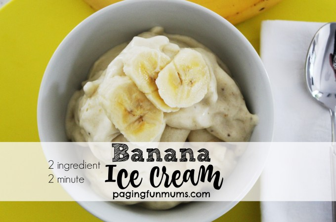 Two Ingredient, Two Minute Banana Ice Cream
