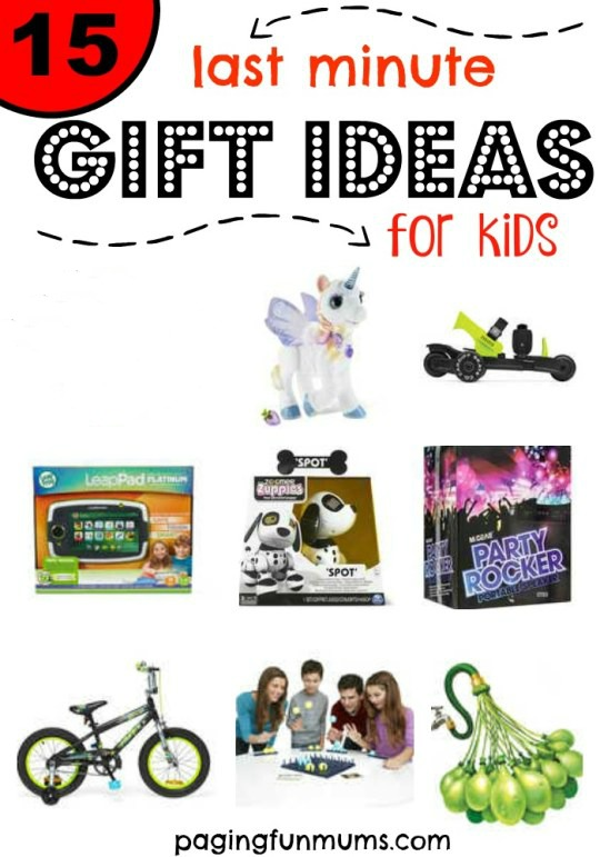 15 last minute gift ideas for kids