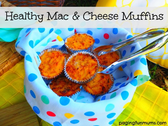 Healthy Mac & Cheese Muffins