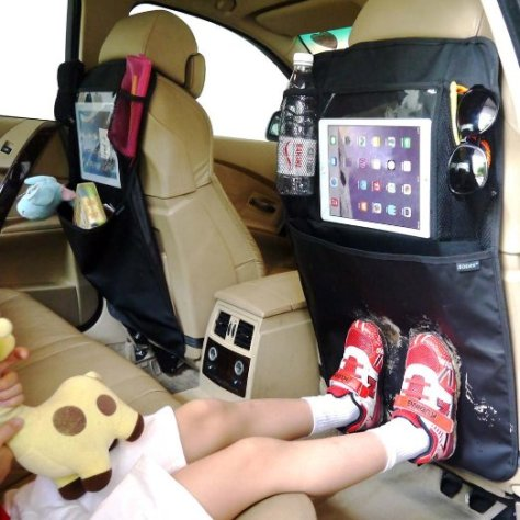 Car Seat Protectors with iPad Holder