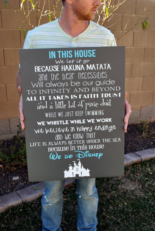 In this house we do Disney! Love this!
