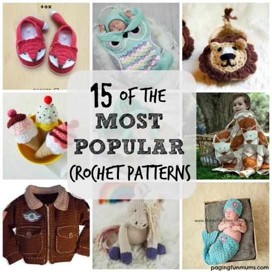 15 of the most popular crochet patterns onlne!