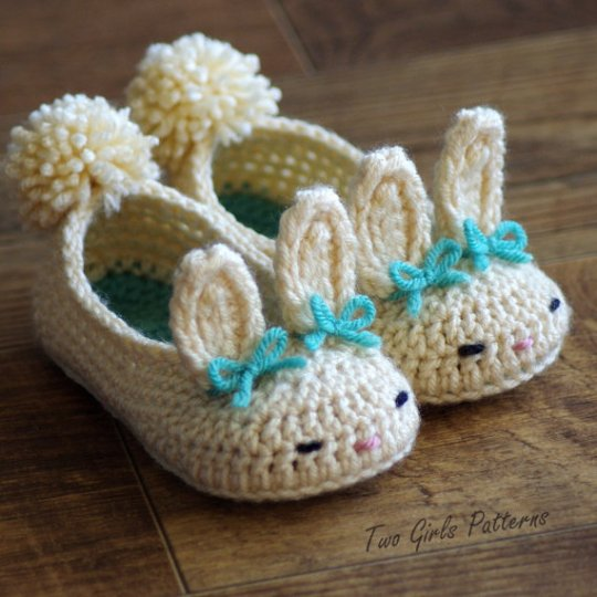 Crochet Bunny Slipper Pattern