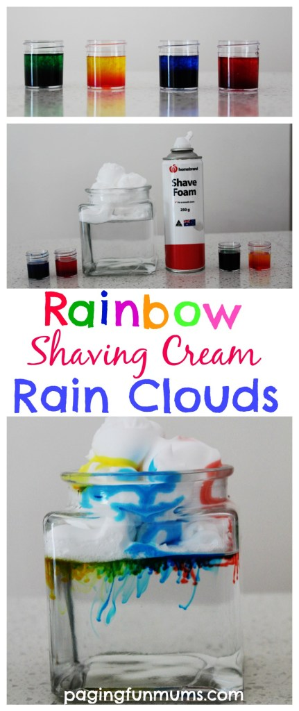 Rainbow Shaving Cream Rain Clouds