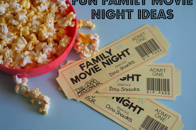 Fun Family Movie Ideas – plus a Glowing Dinosaur Handprint Keepsake