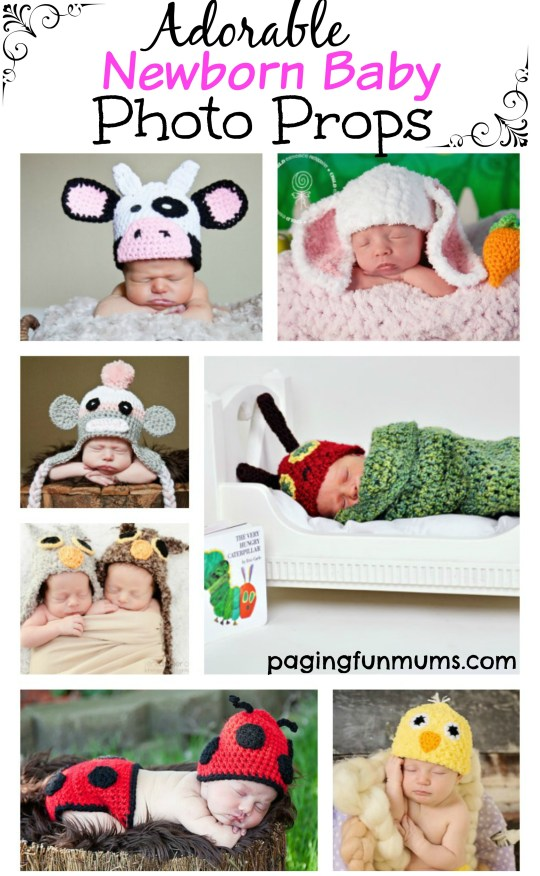 Adorable Newborn Baby Photo Props