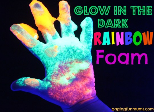 Glow in the Dark Rainbow Foam