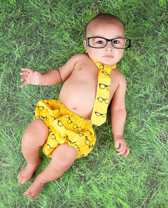 Nappy Cover & Tie Set - Glasses