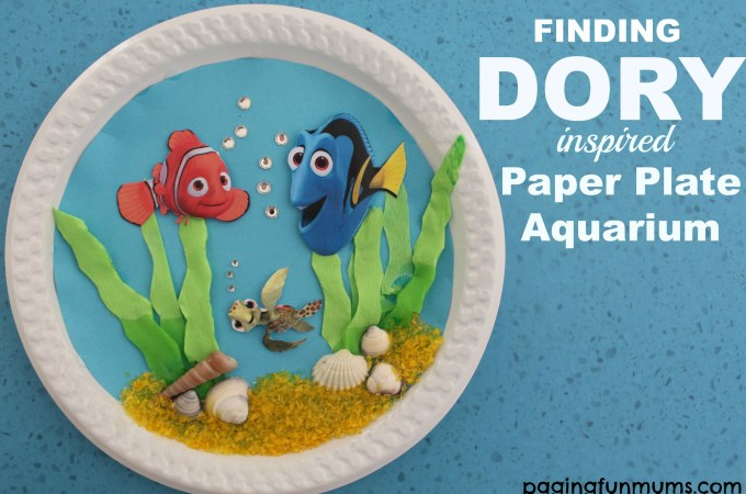 Finding Dory inspired Paper Plate Aquarium