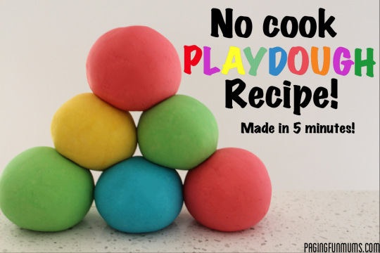 No Cook Playdough Recipe – Fun New Video