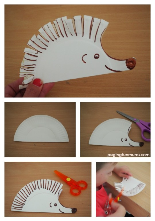 cute-hedgehog-paper-plate-craft-great-way-for-early-learners-to-practice-scissor-skills