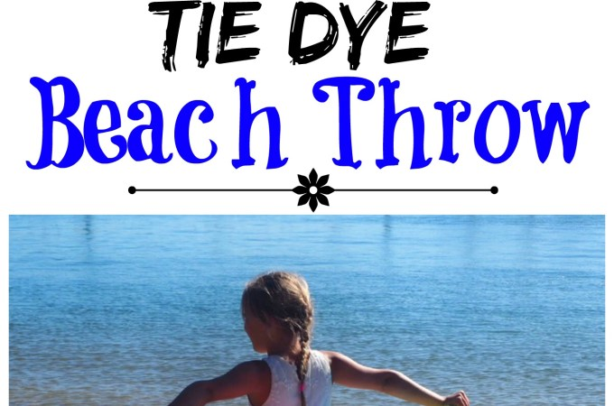 Easy Tie Dye Beach Throw