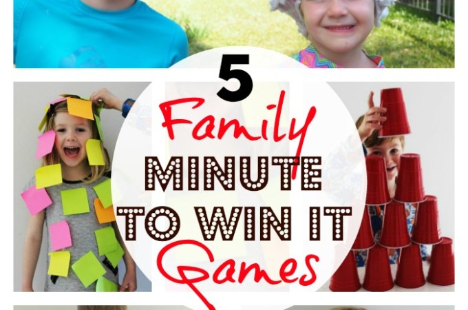 5 Family Minute to Win it Games