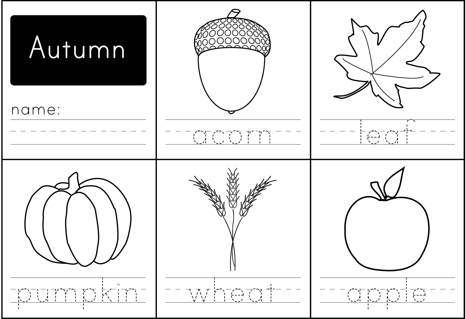 Free Printable Autumn Words
