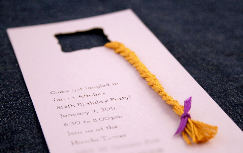 Tangled Birthday Party Invitation