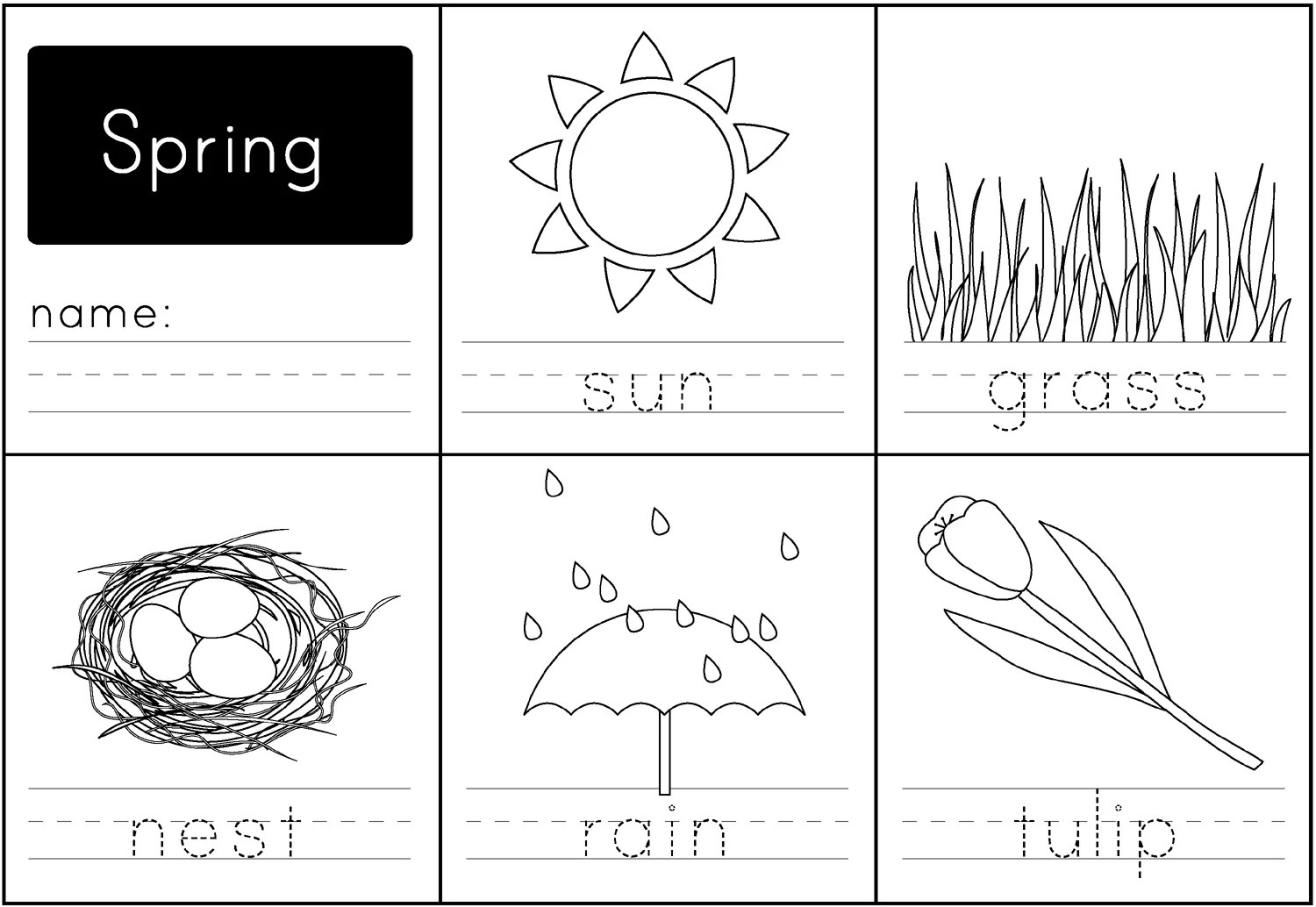 Spring Handwriting Printable
