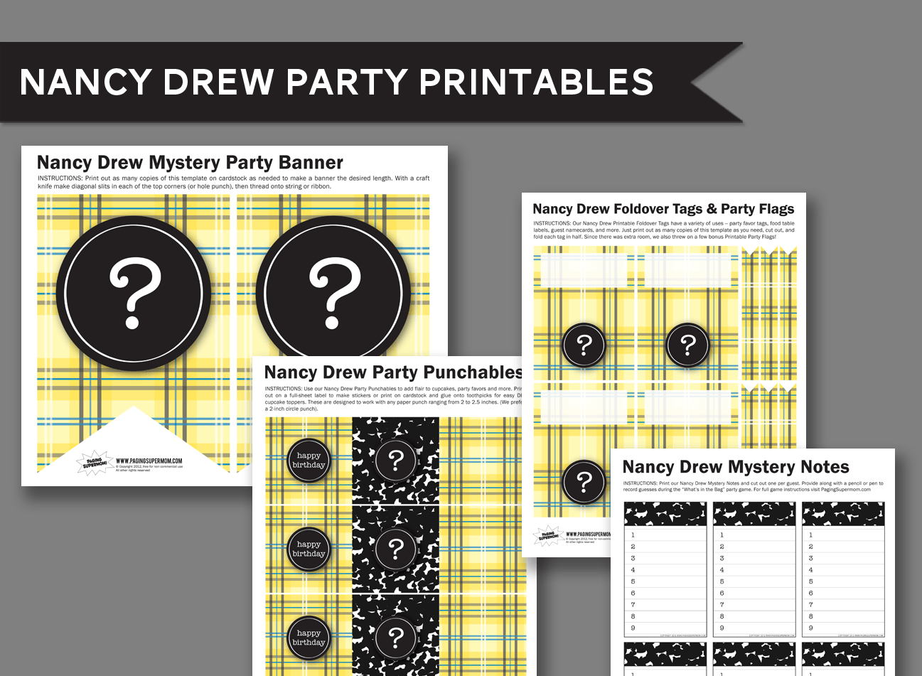 Want To Have A Nancy Drew Party