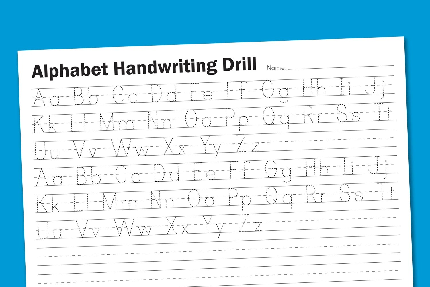 Alphabet Handwriting Drill