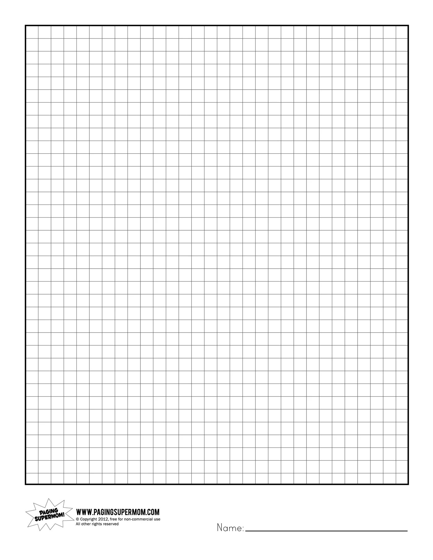 Super Teacher Worksheet Graph Paper Division