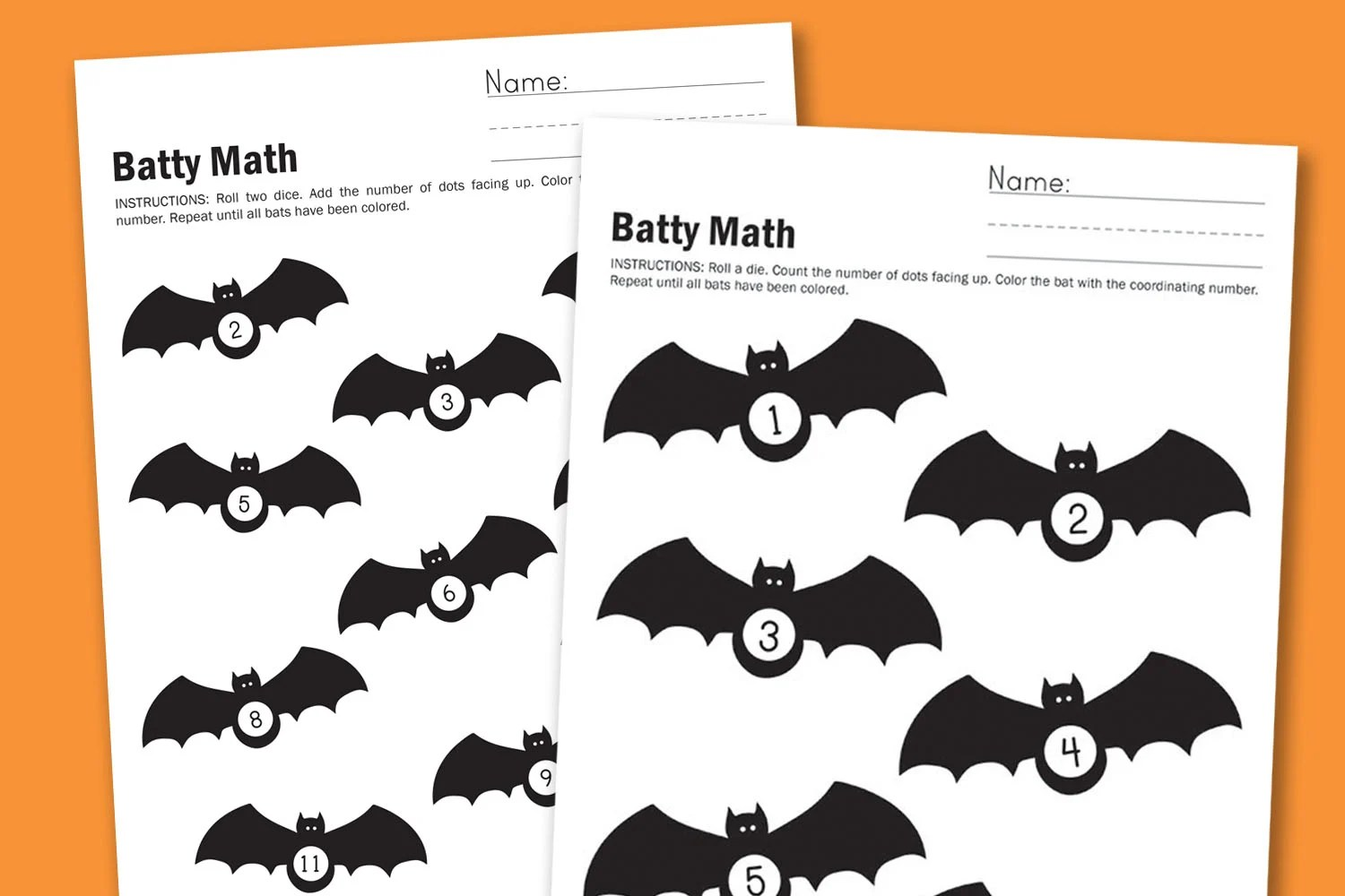 Worksheet Wednesday Batty Math