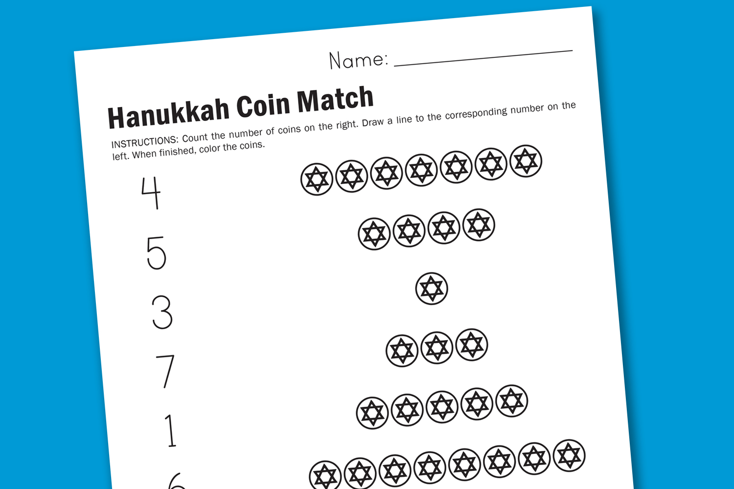 Worksheet Wednesday Hanukkah Coins