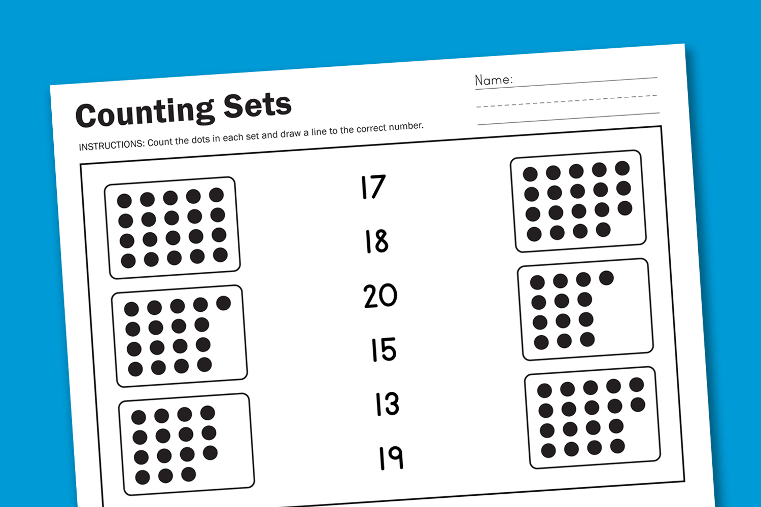 Free Counting Worksheet A New Free Worksheet Every