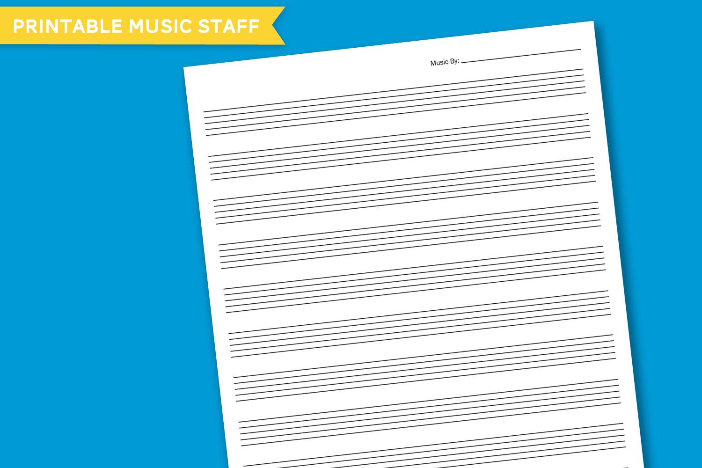 Free Printable Blank Music Staff Paper