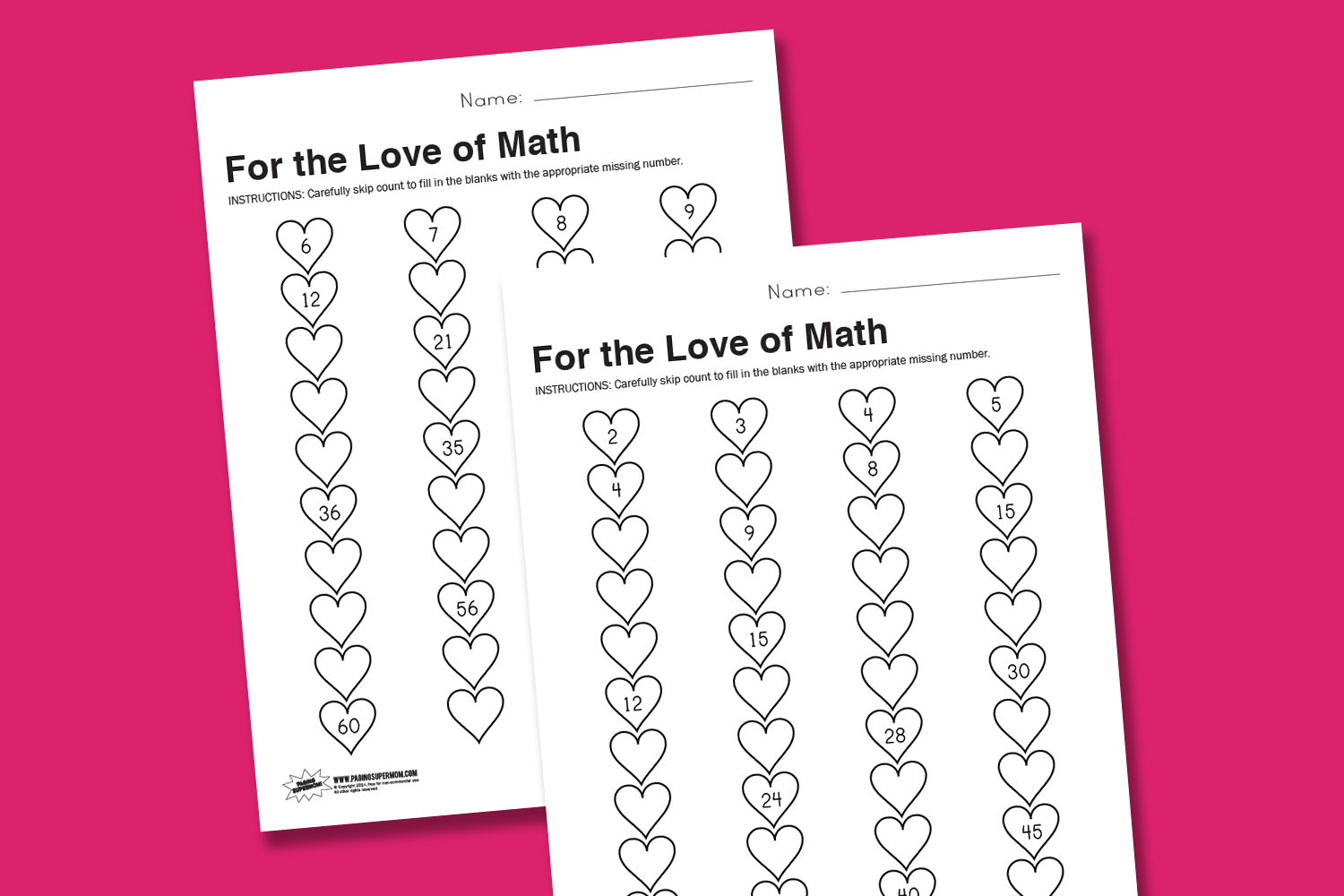 Worksheet Wednesday For The Love Of Math