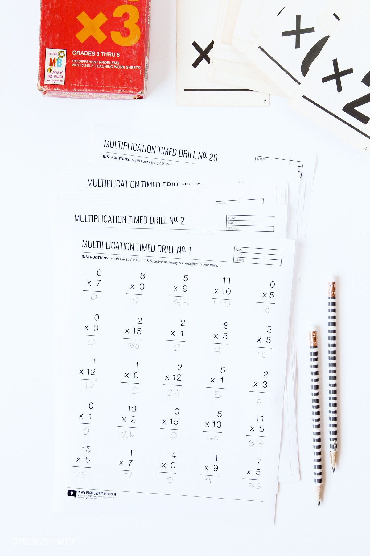 Printable Multiplication Worksheets