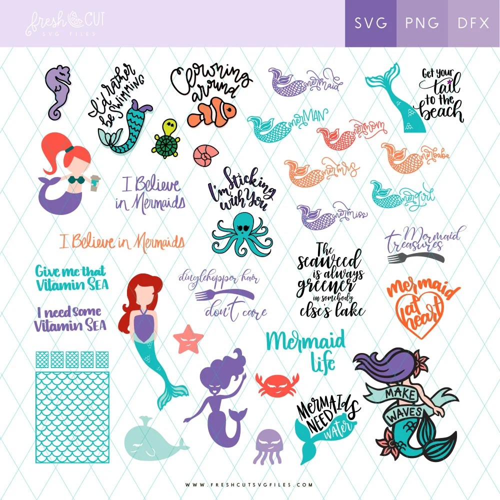 Download Mermaids SVG Cut Files - Downloads for using with a Cricut ...