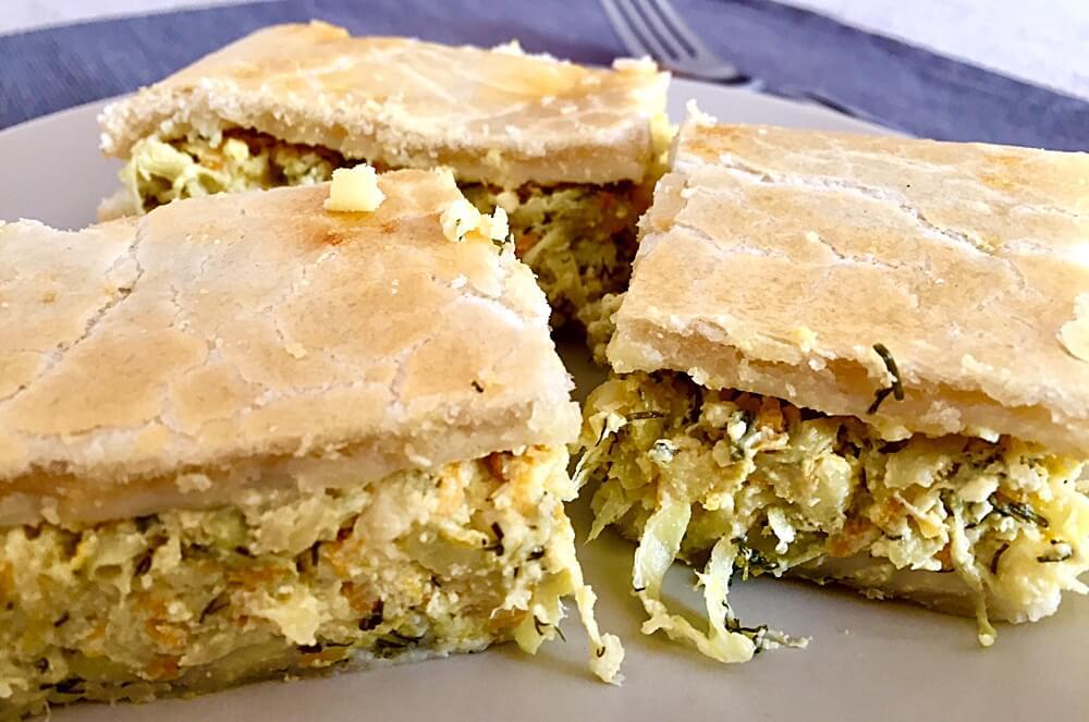 Plăcintă sărată cu brânză și dovlecei