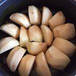 Mere și zahăr caramelizat pentru tort cu mere și cremă de zahăr ars
