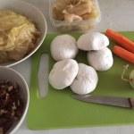 Ingrediente pentru sarmale de post cu nucă