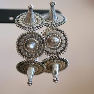 Old silver tribal earrings India