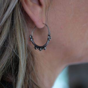 tribal earrings silver