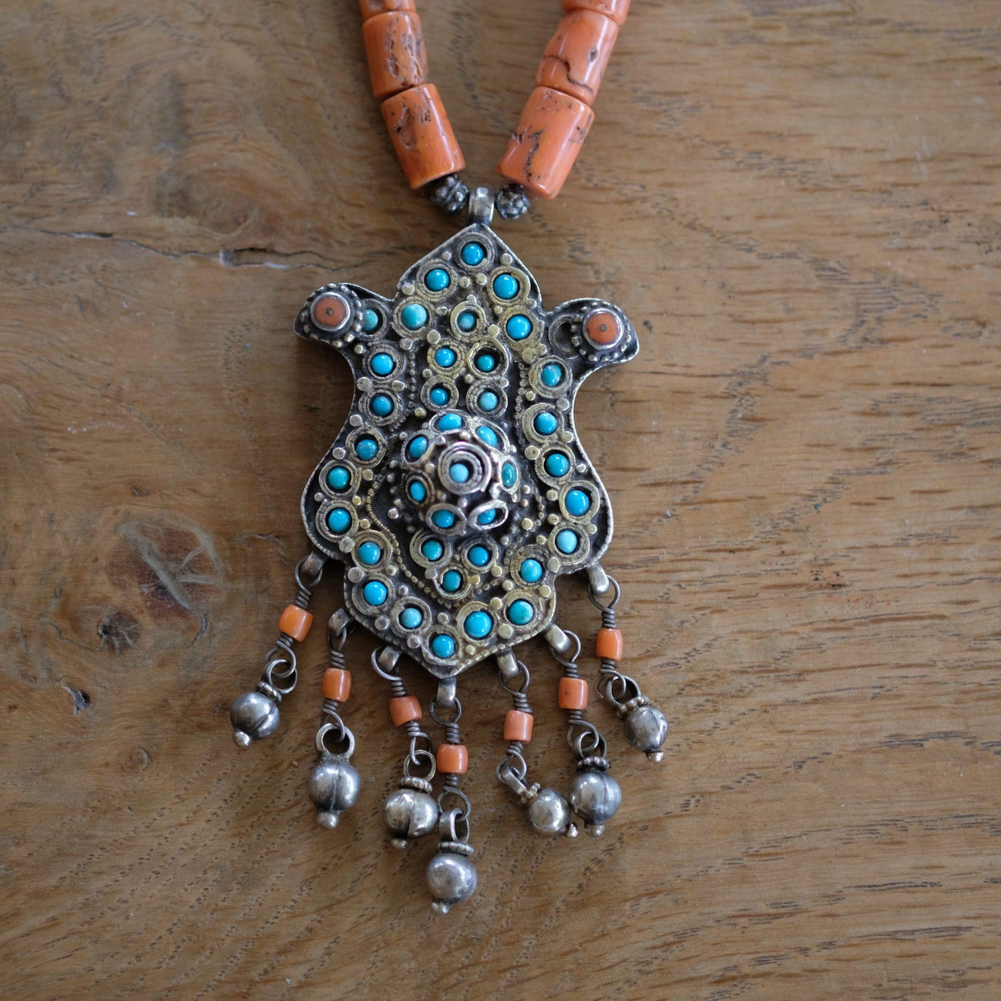 Old silver necklace Uzbekistan