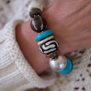 ethnic bracelet with turquoise