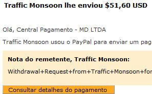 46º Pagamento Traffic Monsoon $50 25 Agosto 2015