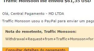 53º Pagamento Traffic Monsoon $61 09 outubro