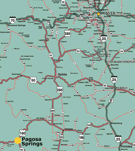 Maps of Pagosa Springs  Southwest Colorado  Four Corners  the     Denver  CO     270 miles View map