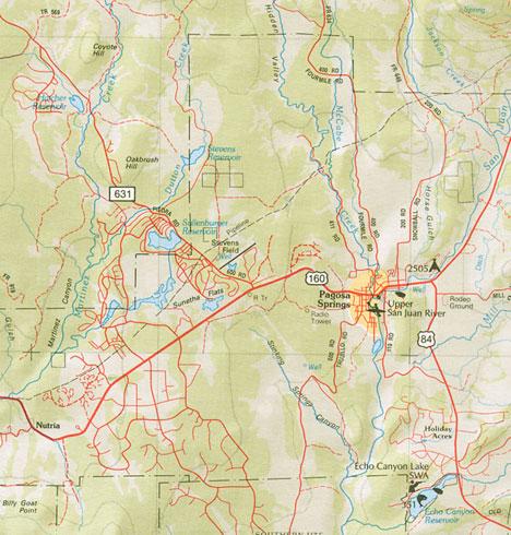 Directions To Pagosa Springs Colorado Maps Of Pagosa