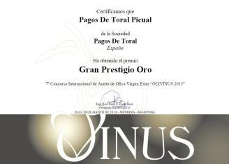 Gran Prestigio Oro Olivinus 2013