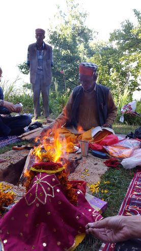 Shanti puja in the memory of Nicolas Reorich