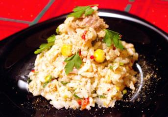 Salată de orez cu peşte