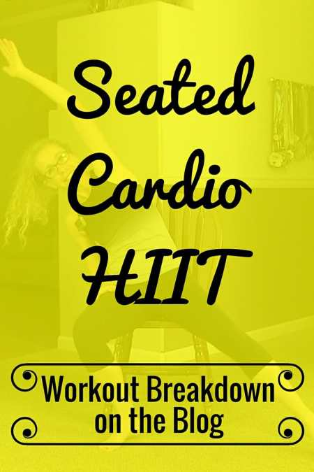 You don't need to stand up to get your heart rate soaring - Quiet and Quick Seated Cardio HIIT Workout from Pahla B Fitness
